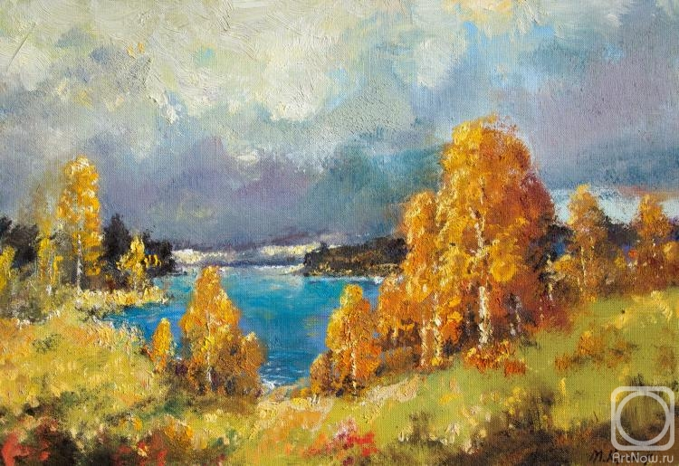 Kremer Mark. Autumn Gold. Above the lake