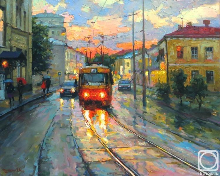 """Волков Сергей. У """"Аннушки""""-трамвая есть пара глаз-огней..."""