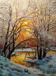 Winter evening. Small river Pavlovka. Panasyuk Natalia