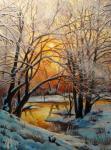 Panasyuk Natalia. Winter evening. Small river Pavlovka