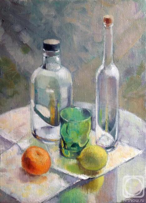 Рикун Ольга. Натюрморт с бутылками