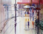 Михальская Екатерина. Париж, дождь, зонтики