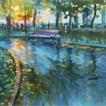Chizhova Viktoria. On wet Boulevard