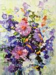 """Картина """"Композиция с фиолетовыми цветами"""". Гавлин Евгений"""