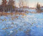 Кустанович Дмитрий. Утро на берегу замерзшего озера