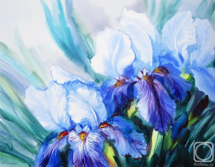 Михальская Екатерина. Светло-синие ирисы