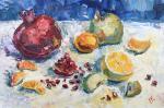 Pavlova Ekaterina. Still life with pomegranate