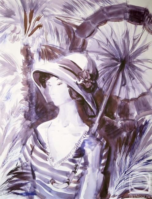 Михальская Екатерина. Под пальмой