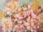 Картина пионы - Весна в бутонах. Логинова Аннет