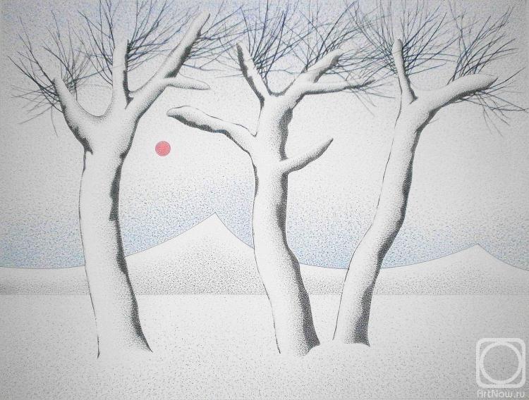 Безуглый Олег. Гора Фудзи зимой