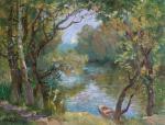 """Картина """"Лето на реке"""". Дуринян Ашот"""
