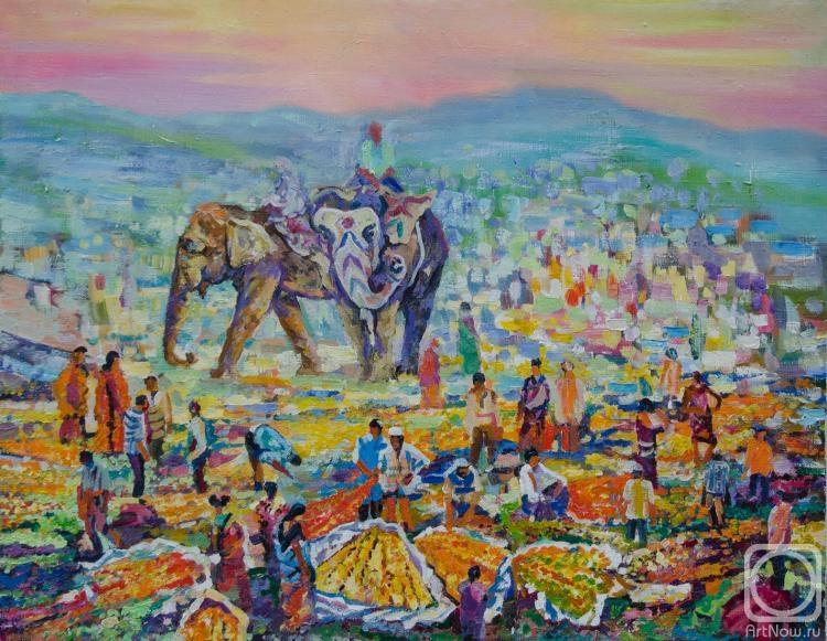 Тахтамышев Сергей. Индийсский рынок цветов