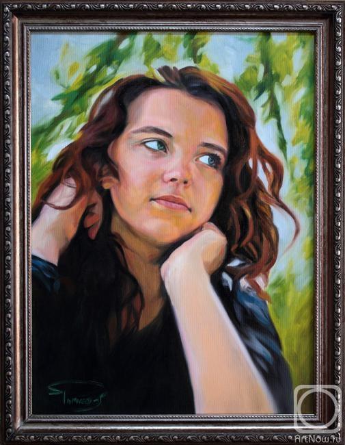 Рычков Илья. Портрет девушки (выполнен на заказ)