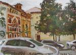 Магнолии на улице в Овьедо