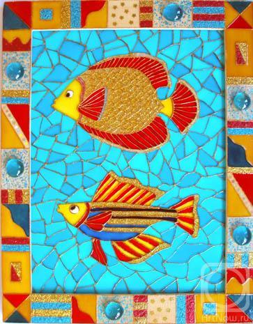 """Рхема вышивки Золотая рыбка"""""""