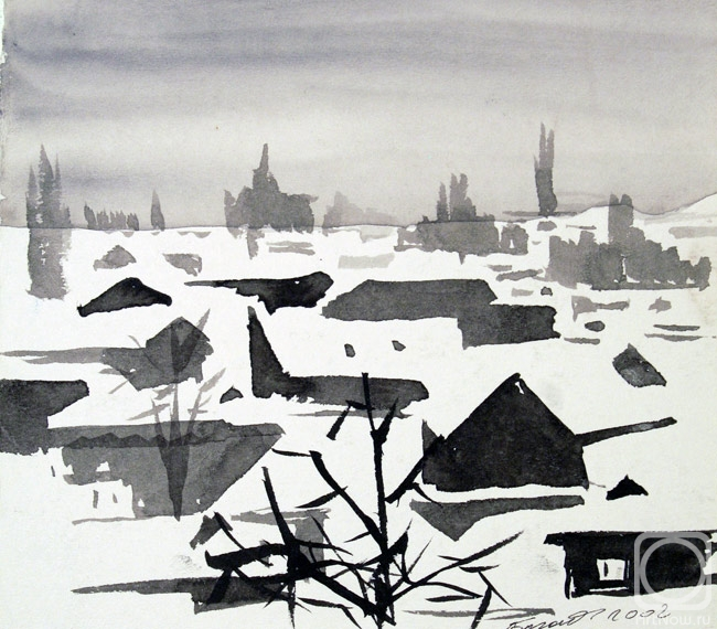 Картины художника зима дагестан