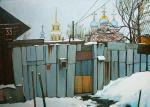 """Картина """"Мартовский снег в Рязани"""". Калинкина Дина"""