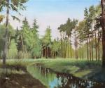 """Картина """"Ручей в лесу"""". Тафель Зиновий"""