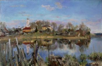 Valdai morning. Reflections. Galimov Azat
