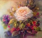 Годич Марина. Осенняя роза и ягоды