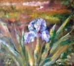 "Картина ""Голубой цветок"". Рязанцева Антонина"