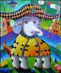 Чугаев Валентин. Слон гуляет с флагом