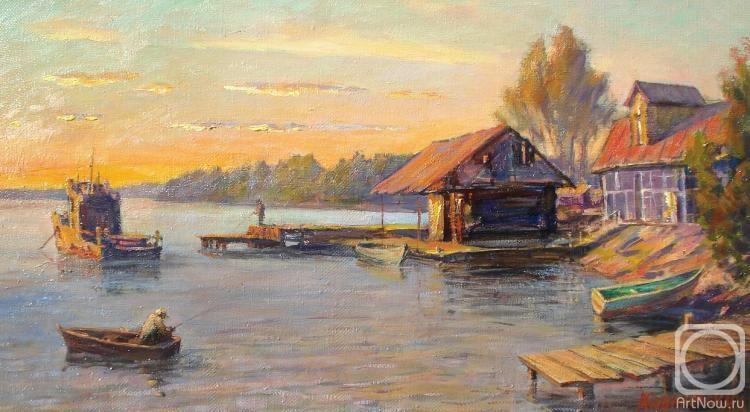 Ковалевский Андрей. Озеро Селигер. Закат