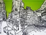 Графическая роспись в интерьере. Париж