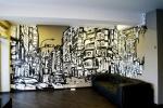 Роспись стены в квартире. Город