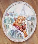 Картина маслом Однажды в Париже. Логинова Аннет