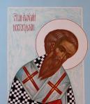 Святитель Евфимий Новгородский. Икона из Деисисного чина. Фрагмент.