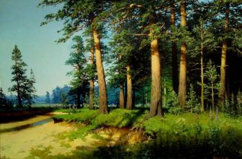 The pine in the evening. Fyodorov Michail