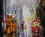 """Картина """"Дождик на Арбате"""". Сыдорив Зиновий"""