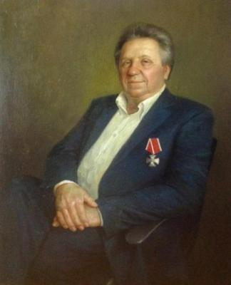 Shustin Vladimir. Portrait of a man in a chair