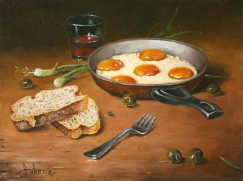 Fried eggs. Vukovic Dusan