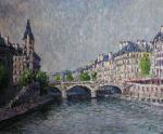 Seine embankment at the Saint-Michel bridge. Konturiev Vaycheslav