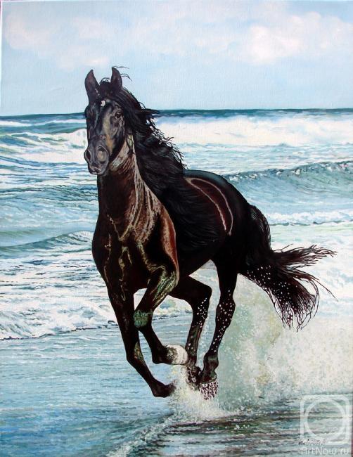отличие лошадь бегущая по волнам картинка успел