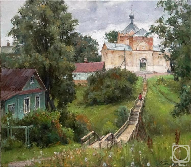 Galimov Azat. Summer in Kashin. On the way to the temple