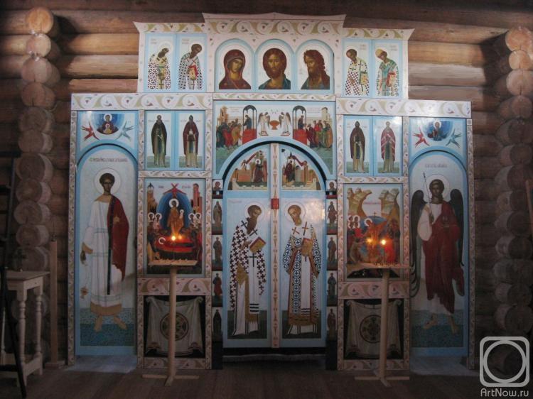Кутковой Виктор. Иконостас Успенского старообрядческого храма в г. Малая Вишера