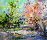 Чарина Анна. Цветущая весна. Двор на Никитской