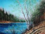 Generalov Eugene. Birches on the river