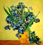 Still Life: Vase with Irises. a copy of Van Gogh. Bruno Augusto