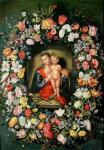 Madonna and Child in a flower garland (copy Ya.Breygel). Minaev Sergey