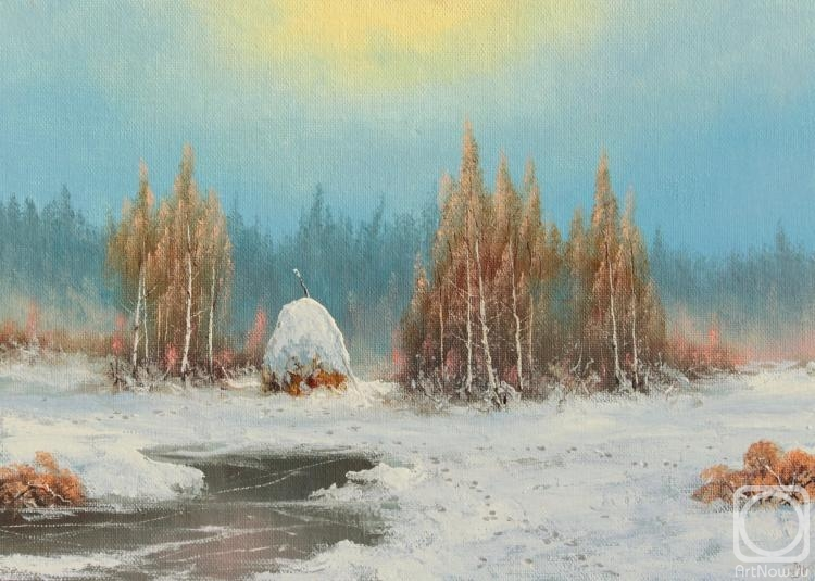 Lyamin Nikolay. Winter, haystack