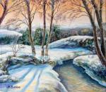 "Картина ""Зимой в Карпатах"". Бухина Майя"