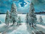 Кремер Марк. Лунная ночь. Деревья