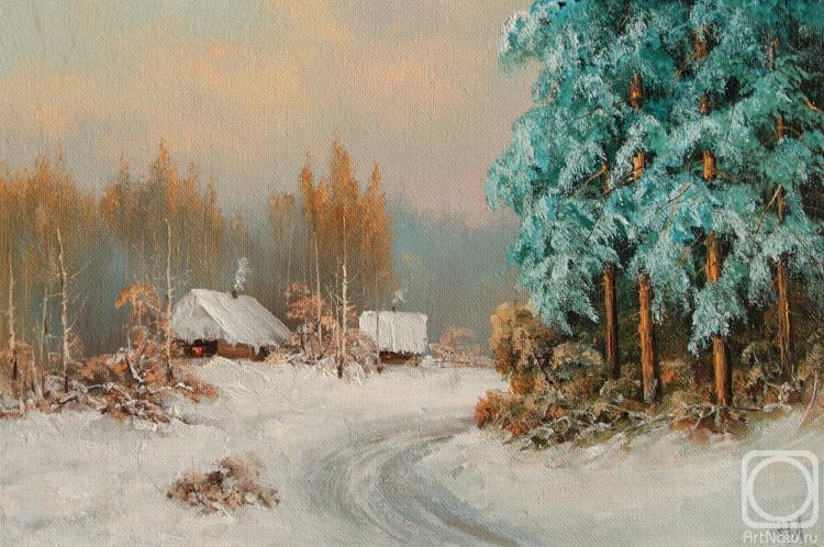 Лямин Николай. Зимняя дорога, намело