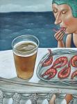 """Картина """"Пиво с креветками"""". Джерих Анжела"""