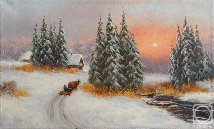 Лямин Николай. Зима, на санях