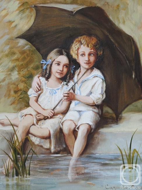 Симонова Ольга. Дети под зонтом